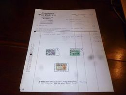 FF1 Document  Facture Meubelfabriek Van Pelt Burcht - Belgien