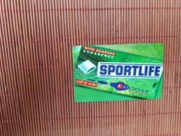 Sratch & Phone Belgacom Sportlife 01/012000  (Mint,Neuve) 2 Scans Rare ! - Belgique