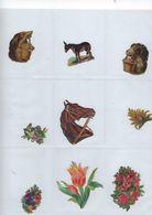 Chromo Decoupis Ancien 9   Fleurs Et Animaux - Fleurs