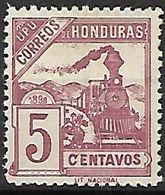 HONDURAS    -     1898.     Y&T N° 86a (*)   .   Variété De Couleur.      Train   /   Loco. - Honduras