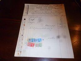 FF1 Document  Facture Grande Fabrique De Meubles Pierre Van Rossum Rode-Saint-Genèse 1939 - Belgien