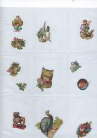 Chromo Decoupis Ancien 12   Fleurs Et Animaux - Fleurs