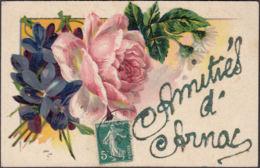 CPA Amities D'Arnac, Circulé 1910 - Philosophie & Pensées