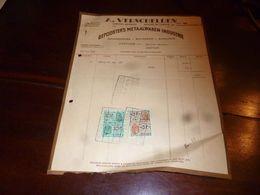 FF1 Document  Facture A. Verschelden Depoorter's Metaalwaren Industrie Articles En Chrome Deurne - Belgien