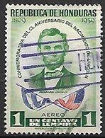 HONDURAS    -     Aéro .   1959    Abraham  LINCOLN   /   Drapeaux - Honduras