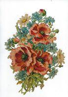 Chromo Decoupis Ancien    Fleur  Hauteur 25 Sur 18 Cms Environs - Fleurs