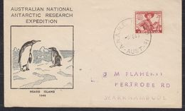 AAT 1949 Heard Island / Australian National Antarctic Research Expedition Cover Ca Anare 5 FE 43 (48349) - Lettres & Documents