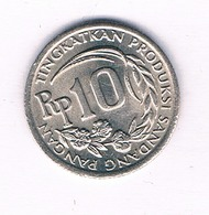 10 RUPIAH 1971  INDONESIE /5145/ - Indonésie