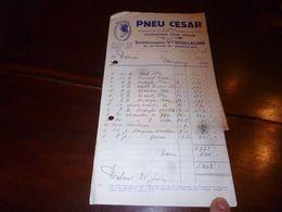 FF1 Document  Facture Pneu César Voir Lithographie Ets Wuillaume Accessoires Pour Cycles Bruxelles 1953 - Belgien