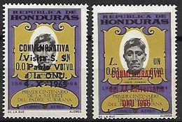 HONDURAS    -   Aéro .  1965 / 66.  Padre SUBIRANA   /   Pape  PAUL VI  /  ONU.   Surchargés.  Neufs ** - Honduras