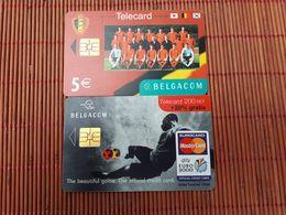 Football 2 Phonecards Belgacom Used - Belgique