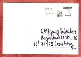 Brief, Label Postage Paid Delemont 2 Ville, Nach Leonberg 2016 (95410) - Switzerland