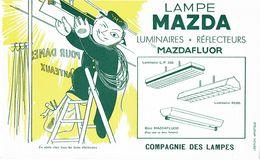 Buvard  Lampe Mazda  Luminaires Réflecteurs Compagnie Des Lampes - Vloeipapier