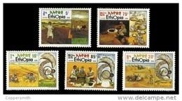 (332) Ethiopia / Ethiopie  Agriculture / Landwirtschaft / 1990   ** / Mnh  Michel 1380-84 - Ethiopie