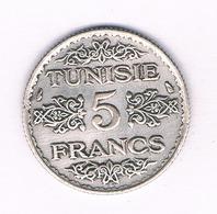 5 FRANCS 1936 TUNESIE /5153/ - Tunisia