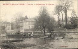 Cp Villeneuve Saint Georges Val De Marne, Embouchure De L'Yerres - France