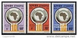 (328) Ethiopia / Ethiopie  Postal Union / PAPU / 1990  ** / Mnh  Michel 1350-52 - Ethiopie