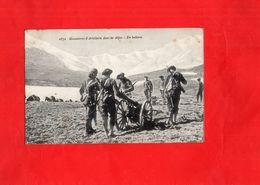 G3006 - Manoeuvres D'Artillerie Dans Les Alpes - En Batterie - Manoeuvres