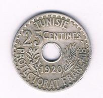 25 CENTIMES 1920 TUNESIE /5155/ - Tunisia