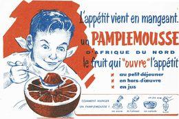 Buvard Pamplemousse  Le Fruit Qui Ouvre L'appétit - Vloeipapier