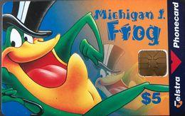 AUSTRALIE  -  Phonecard  -  TELSTRA  -  Michigan J. Frog  -  $ 5 - Australie