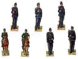Lot De Découis Cartonnés, Militaire, Soldats De La Suisse, Schuler /Waschpulver, Suisse Hauteur Env. 8,5 Cm, Set 1 - Découpis