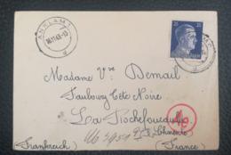 COVER 1943 - ANKLAM 1 D - Ae - To La Rochefoucauld France - Duitsland