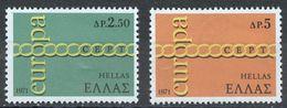 GRECIA 1971 - EUROPA CEPT - YVERT Nº 1052/1053** - Greece
