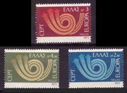 GRECIA 1973 - EUROPA CEPT - YVERT Nº 1125/1127** - Greece