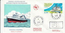 Terres Australes Et Antarctiques Françaises  1996  Bateaux Chalutier L'austral - FDC