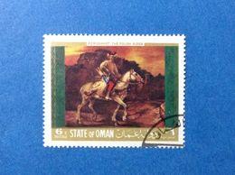 STATE OF OMAN ARTE QUADRO DIPINTO REMBRANDT 6 B FRANCOBOLLO USATO STAMP USED - Oman
