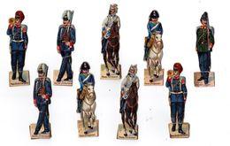 Lot De Découis Cartonnés, Militaire, Soldats De L' Allemagne, Schuler Waschpulver, Suisse Hauteur Env. 8,5 Cm, Set 2 - Découpis