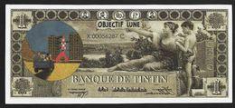 "Billet Fictif 1 Dinar "" TINTIN Objectif Lune "" Neuf - Specimen"