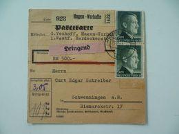 Carte Allemande Timbre Adolf Hitler - Documents Historiques