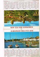 Almanach Des PTT  Le Croisic 44 Semur En Auxios - 75 Paris 92  93  94 - 1978 - Calendars