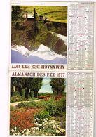 Almanach Des PTT  - Mont Blanc  Jardin Fleuri - 75 Paris 92  93  94 - 1977 - Calendars