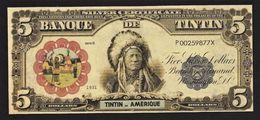 "Billet Fictif 5 Dollars "" TINTIN En Amérique "" Neuf - Specimen"