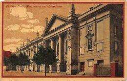 Poland Beuthen O/S Bytom Konzerthaus Und Theater 1919 Feldpost Postcard - Poland