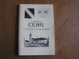 CEHG Revue N° 41 Gedinne Régionalisme Wallon Semoy Ecole Chiens Avec Ou Sans Charette Guerre 40 45 Louette St Denis - Belgium