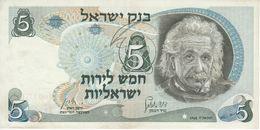 BILLETE DE ISRAEL DE 5 SHEQALIM DEL AÑO 1968 (BANKNOTE) EINSTEIN - Israel