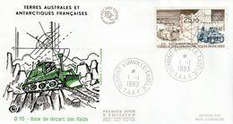 Terres Australes Et Antarctiques Françaises    1993  Base De Départ Des Raids - FDC