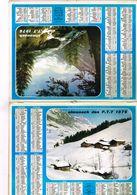 Almanach Des PTT  Neige Et Montagne - 75 Paris 92  93  94 - 1976 Plus Coupure Journal Passage Heure D'été Figaro 23/3/76 - Calendars