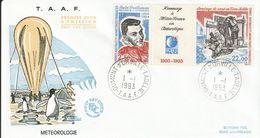 Terres Australes Et Antarctiques Françaises    1993  Météologie - FDC