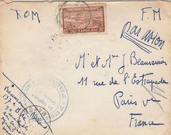 LAC FM CASABLANCA 31/3/1935 CACHET 3e ESCADRILLE - 3E ESCADRE  MAROCAIN POUR PARIS - Morocco (1891-1956)