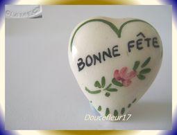 Clamecy ... Coeurs En Fête.. Bonne Fête Petit Modèle Blanc-Vert ... Ref .AFF : 16-1994 - Oude