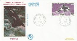 Terres Australes Et Antarctiques Françaises    1993   Poissons L'orque - FDC