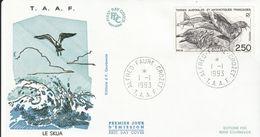 Terres Australes Et Antarctiques Françaises    1993  Le Skua - FDC