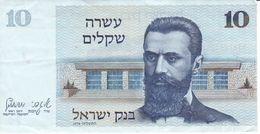 BILLETE DE ISRAEL DE 10 SHEQALIM DEL AÑO 1978 (BANKNOTE) - Israel