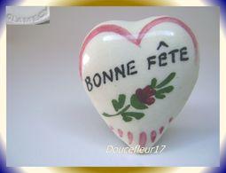 Clamecy ... Coeurs En Fête.. Bonne Fête Petit Modèle Blanc-rouge ... Ref .AFF : 16-1994 - Oude