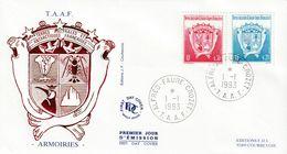 Terres Australes Et Antarctiques Françaises    1993  Armoiries - FDC